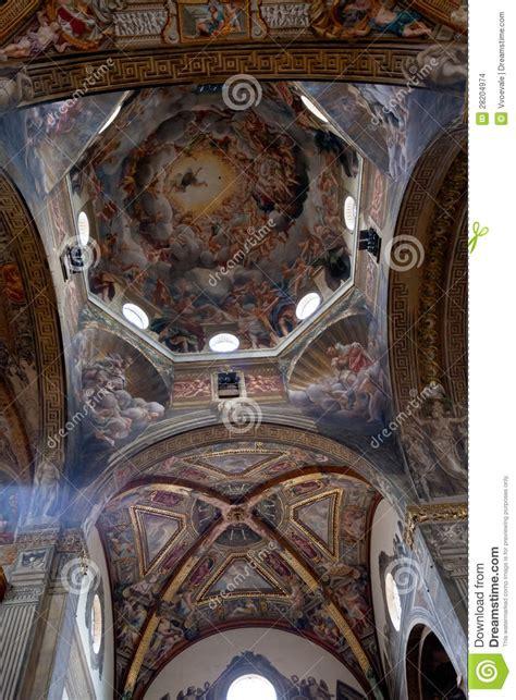 soffitto dipinto soffitto dipinto della cattedrale di parma fotografia