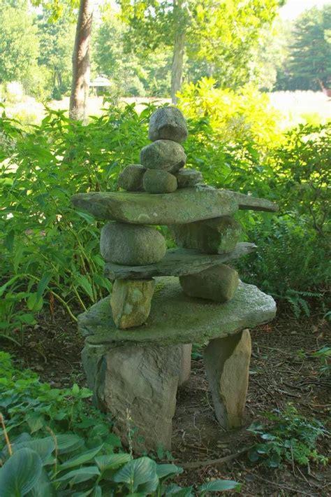 Garden Cairns Rock Cairn In The Garden Garden Patio