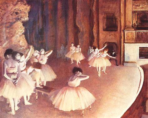test della ballerina prova generale di balletto in scena quadro di degas