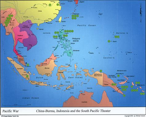 pacific war map map pacific war