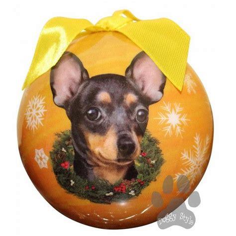 chihuahua black shatterproof dog breed christmas ornament