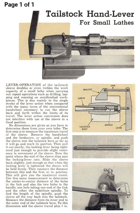 how to make the best of a small bedroom homemade tailstock hand lever for small lathes