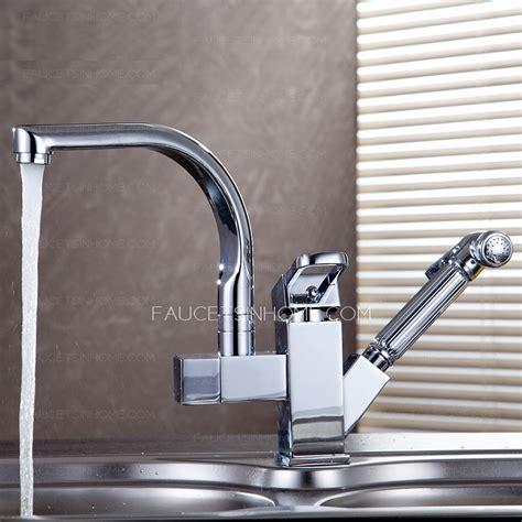 High End Kitchen Faucets High End Rotatable Kitchen Faucet With Pullout Spray Gun