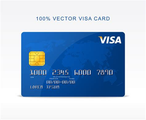 Visa Credit Card Template Vector Free Vector Visa Credit Card Freebies Fribly
