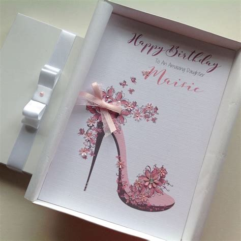 Handmade 21 Birthday Card - personalised handmade birthday card