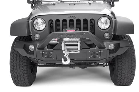 jeep wrangler unlimited light bar go rhino 230115103t front bumper with straight end caps