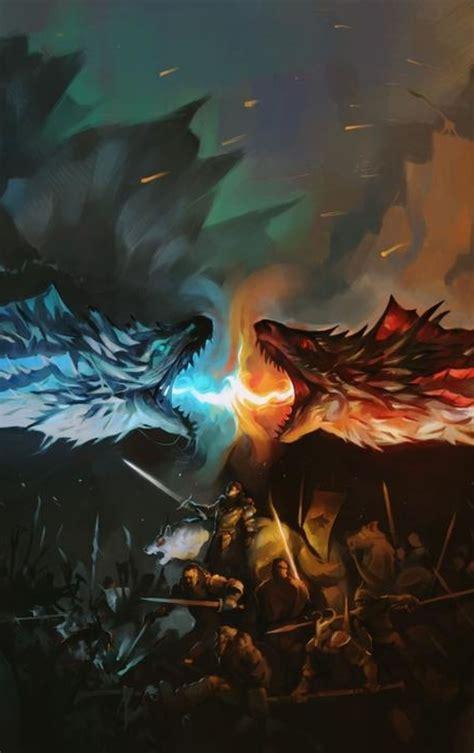 dragon battle fire  ice game  thrones hd wallpaper
