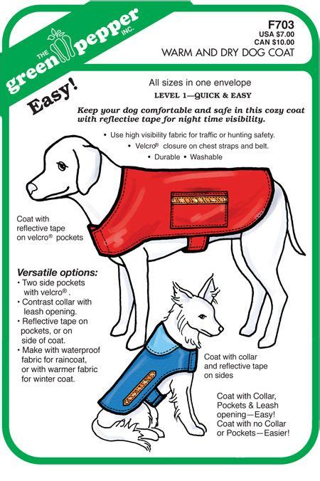 pattern for a dog coat free dog coat pattern sewing pinterest