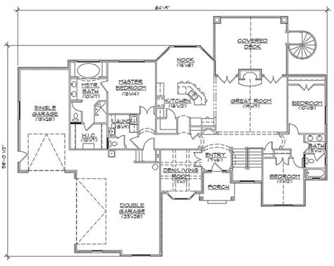 awesome rambler house plans with basement pictures house