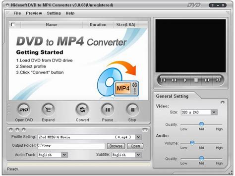 converter dvd to mp4 nidesoft dvd to mp4 suite bei freeware download com