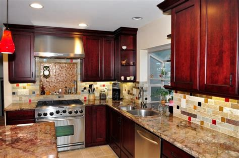 kitchen cabinets maroon quicua