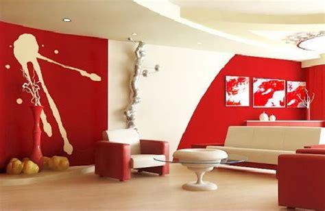 wohnzimmer rot wand streichen ideen kreative wandgestaltung freshouse