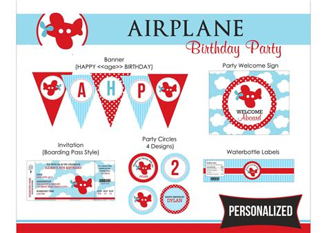 Aeroplane Template For Birthday Card by Free Aeroplane Birthday Invitation Printables