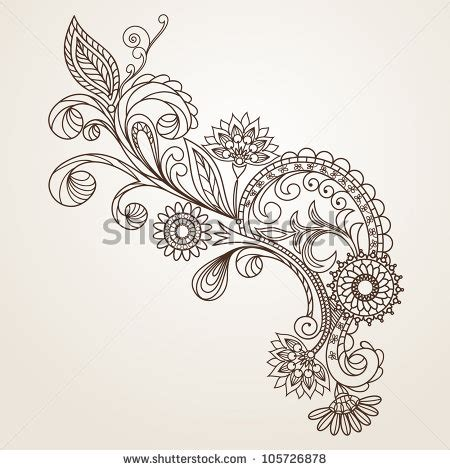 floral pattern design drawing floral pattern hand drawing illustration stock vector