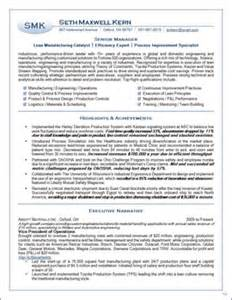 Lean Specialist Sle Resume by Sles Executive Resumes Professional Cvs Career Change Executive Resume Services