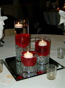 Cylinder Vases With Floating Candles And Flowers Wedding Centerpiece Ideas For Red Black And White Archives