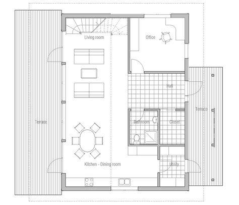 home floor plans small contemporary house plans small modern house ch50