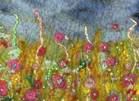 Handmade Felt - freckles and flowers