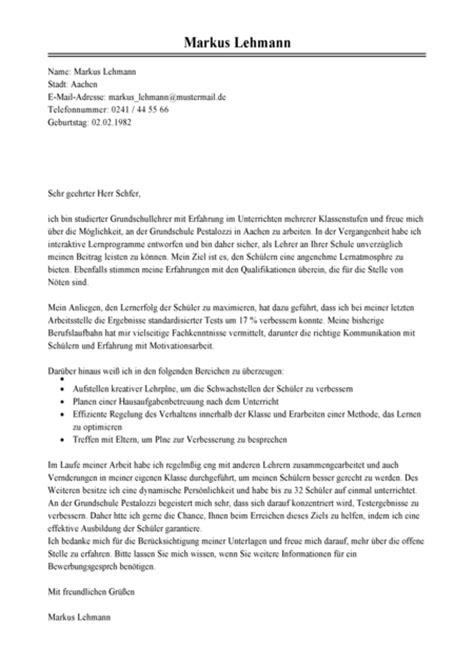 Bewerbungsschreiben Initiativbewerbung Lehrer Anschreiben Lehrer Muster Bewerbungsschreiben Lehrerin Vorlage Livecareer