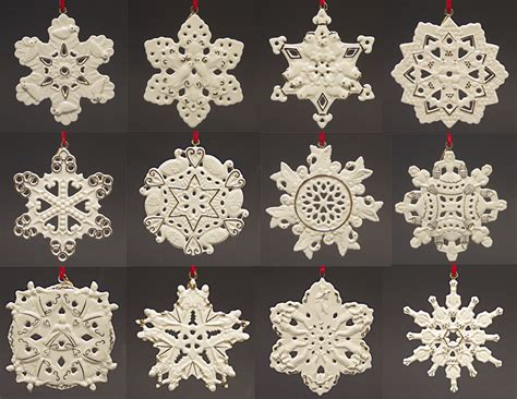 lenox twelve days of christmas snowflake 12 piece ornament