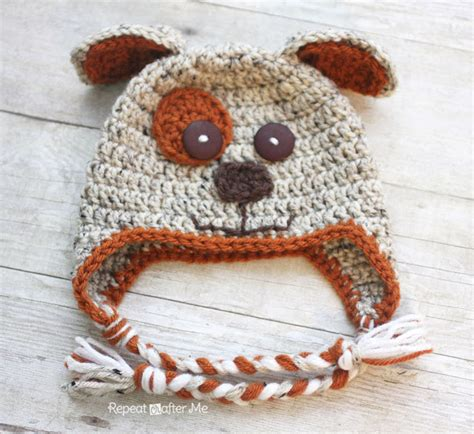 repeat crafter me puppy hat crochet puppy hat pattern repeat crafter me