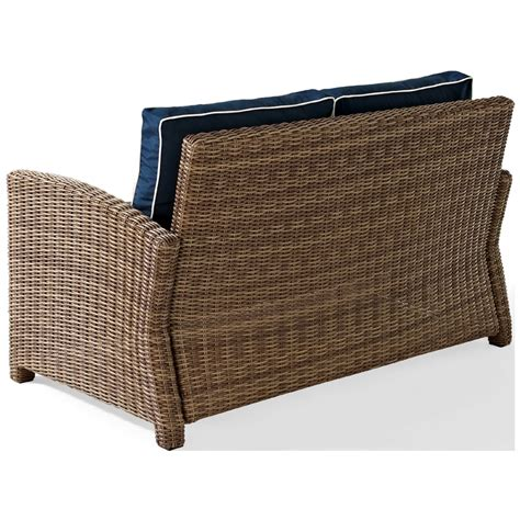wicker loveseat cushions crosley biltmore outdoor wicker loveseat with cushions