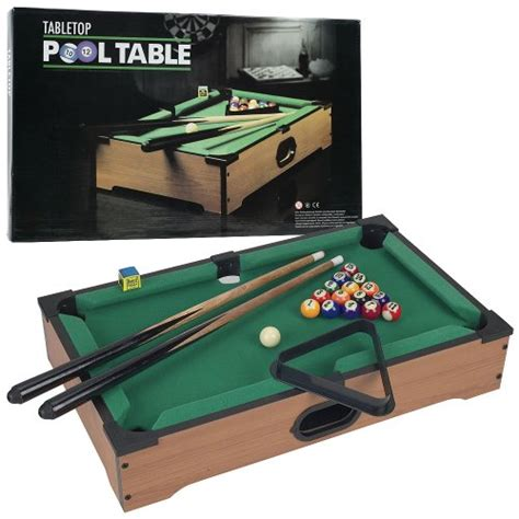 trademark mini tabletop pool table mini table top pool table with cues triangle and chalk 1