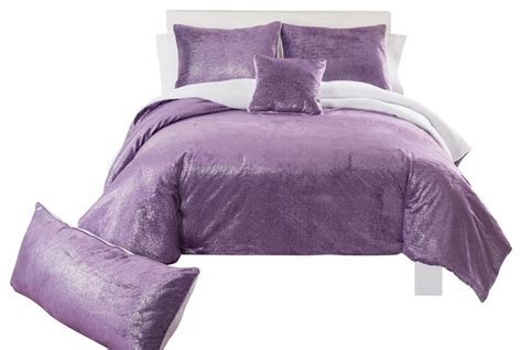 sparkle bedding sparkle mink purple comforter set queen contemporary