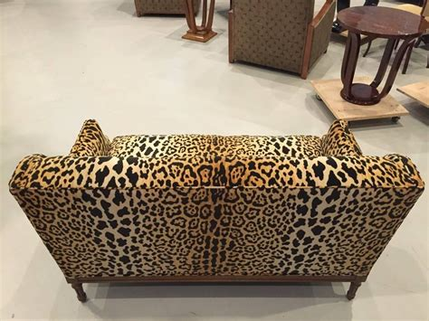 Animal Print Sofa by Mid Century Leopard Print Sofa For Sale At 1stdibs