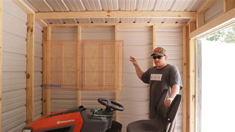 Hang Lawn Mower In Garage by Lawn Tool Storage In A Garden Shed Jays Custom Creations