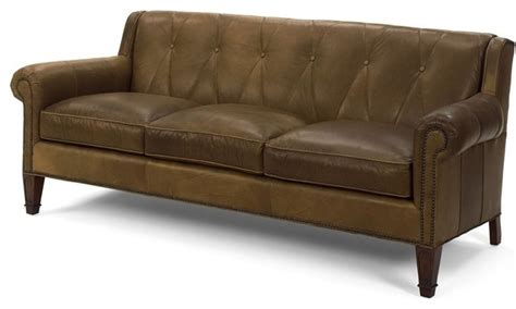 Transitional Leather Sofa Top Grain Leather Wood Sofa Transitional Sofas By Euroluxhome
