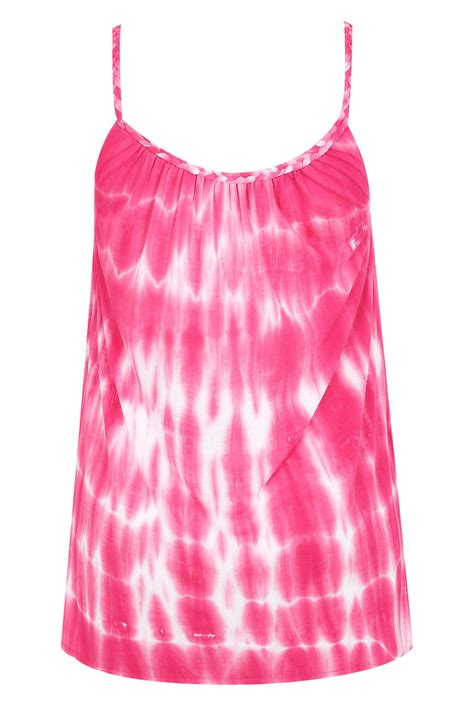 swing 4 ireland ie pink white tie dye swing vest with plaited straps plus