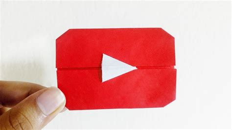 Origami Button - origami play button diy paper play