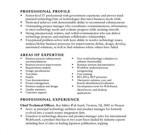 business analyst documents templates business analyst resume 8 free documents in