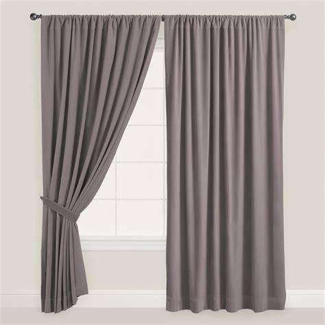 gray velvet curtains gray velvet dual tab top curtain world market