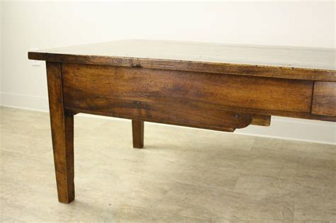 antique walnut coffee table with two drawers for sale at