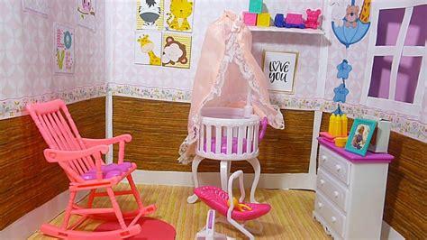 manualidades para habitacion de bebe como hacer la habitacion del bebe de barbie manualidades