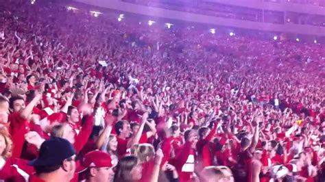 c randall student section quot i like it quot by thousands in the wisconsin student section