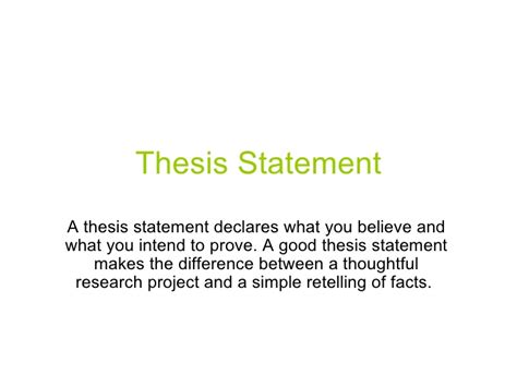 how to write a strong research paper thesis statement