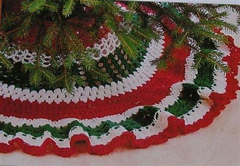 pattern xmas tree skirt crochet pattern adorable ruffledl by nanasvintagepatterns
