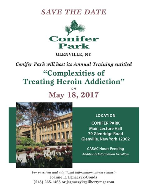 Conifer Park Detox Albany Ny by May 18 Conference Save The Date Conifer Park