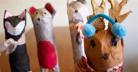 Paper Mache Animals - purple twig paper mach 233 animals