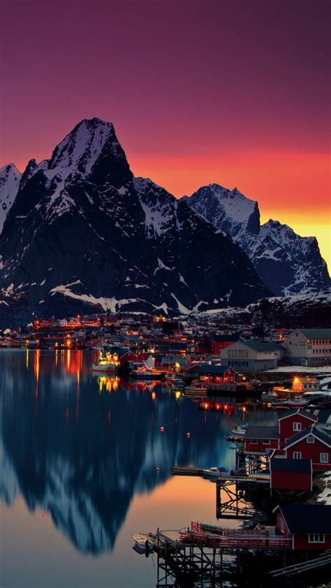 lofoten islands norway mountains sunrise   ultra hd