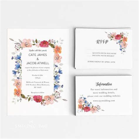 wedding invitations south auckland 10 floral wedding invitations editor s etsy picks einladungen und ideen