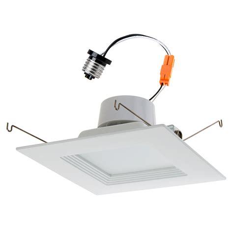 Retrofit Lighting Fixtures Square Led Recessed Lighting Kit For 5 Quot 6 Quot Cans Retrofit Led Downlight W Baffle Trim 100