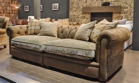 Leather And Cloth Sectional Sofas Sofas With Leather And Fabric Leather And Fabric Sofa Coredesign Interiors Thesofa