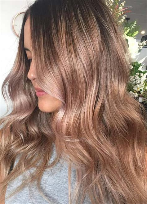 brown and gold hair colour 65 rose gold hair color ideas for 2017 rose gold hair
