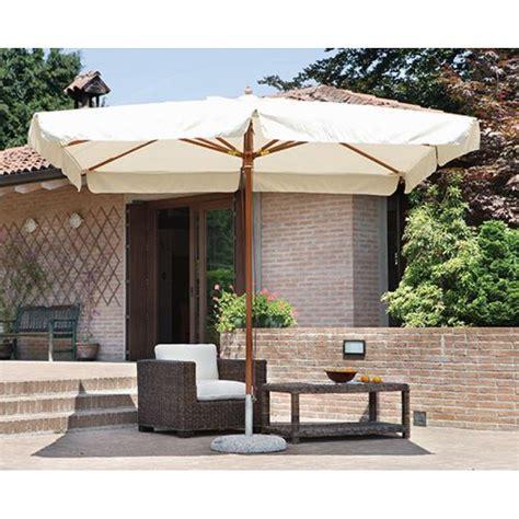 ombrellone per giardino ombrellone da giardino 3x4 mt in legno delux san marco