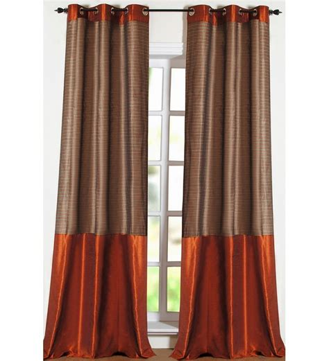 9 ft curtains deco essential strip band haze 9ft door curtain by deco