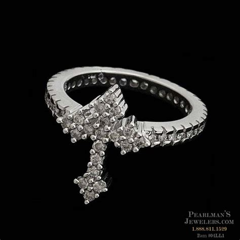 the eternity cross ring in 14kt white gold with 50ct t